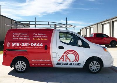 advance alarms van wrap
