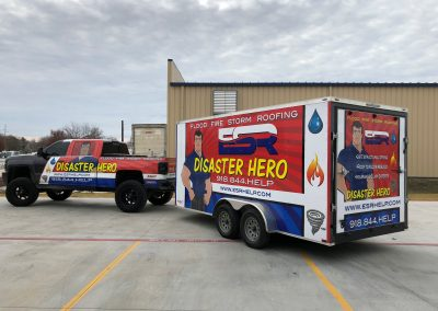Disaster Hero Truck and trailer wrap