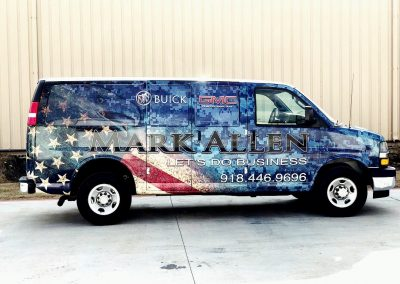 Mark Allen Patriotic Van Wrap