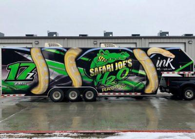 snake trailer 3d wrap design