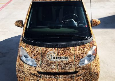 Hay Bale Smart Car Wrap