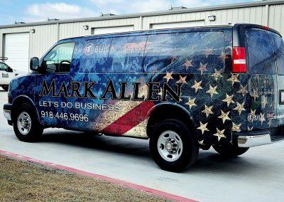 patriotic van wrap