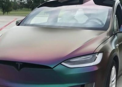 tesla model x  color change wrap